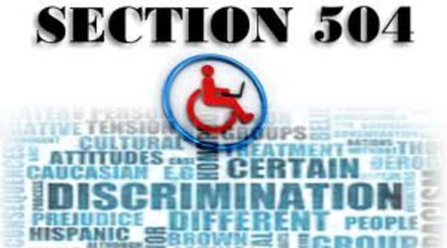 The Rehabilitation Act Amendments of 1973: Section 504