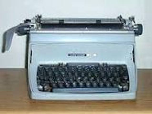 the first folle keyboerd typewriter is invented.