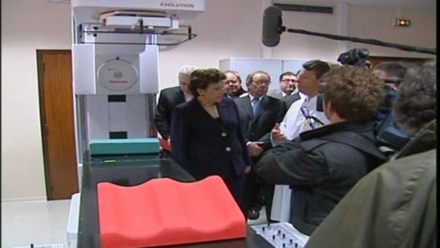 Visite de Roselyne Bachelot à l'hôpital Jean Monnet