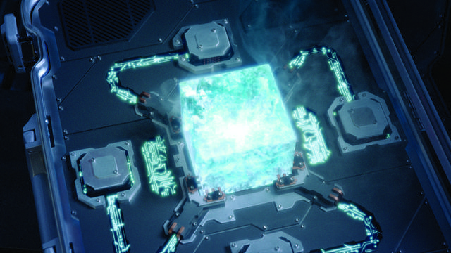 Loki steals the Tesseract then mind controls Hawkeye and Dr. Erik Selvig and flees.