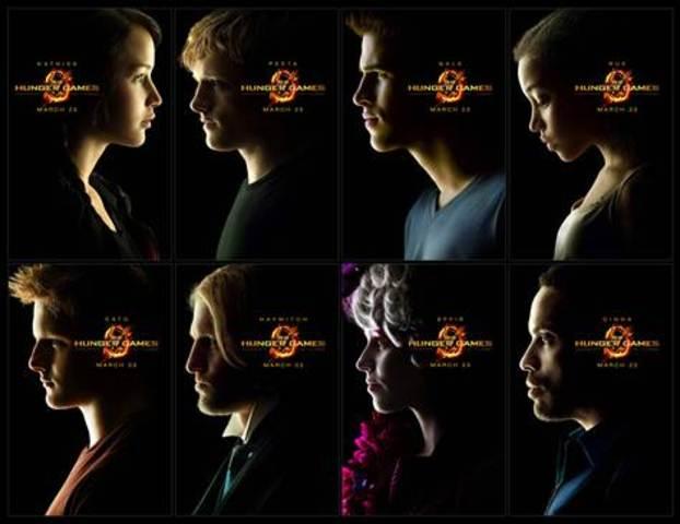 Main Characters: Katniss, Peeta, Gale, Rue, Cato, Haymitch, Effie, Cinna