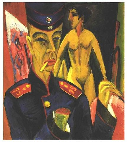 'Self Portrait as a Soldier' - Ernst Ludwig Kirchner