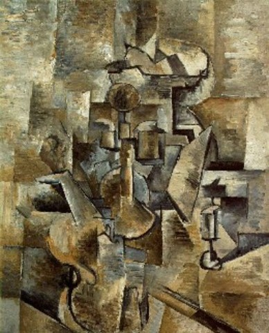 'Vioin and Candlestick' - Georges Braque
