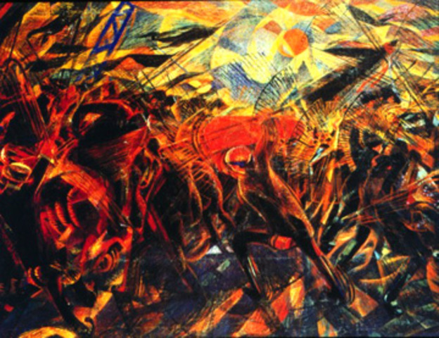 'The Funeral of the Anarchist Galli' - Carlos Carra
