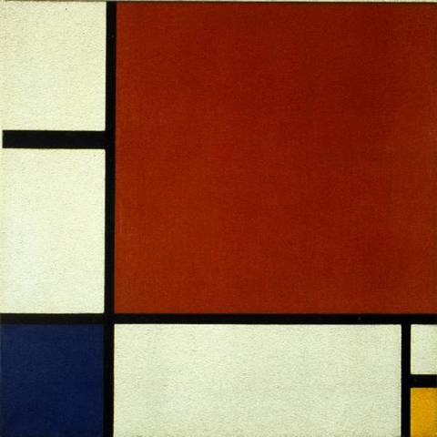 'Composition II in Red, Blue and Yellow' - Piet Mondrian