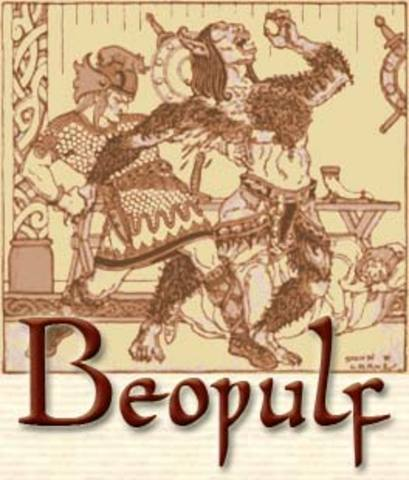 Beowulf is published between 700 and 1000