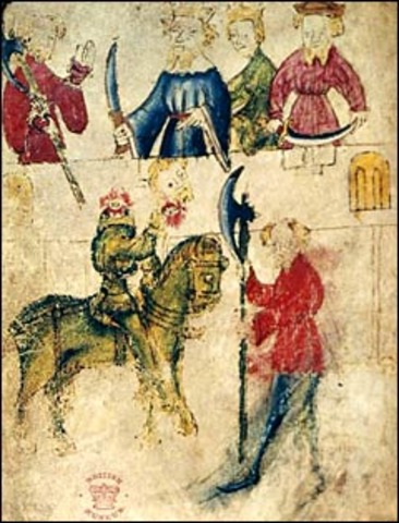 Sir Gawaine and the Green Knight was written between 1375 and 1400