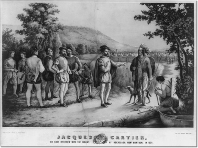 Cartier arrives at Hochelaga