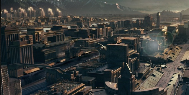 Katniss and Peeta arive at the capitol