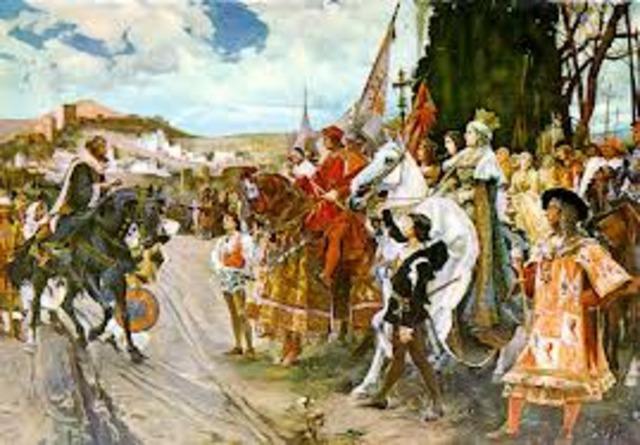 Toma de Granada por los Reyes Católicos