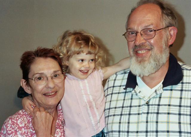 With Grandpa & Grandma Strobel
