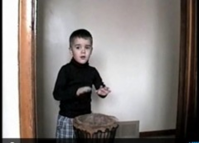Justin found his love for music by discovering how to play the drums.
