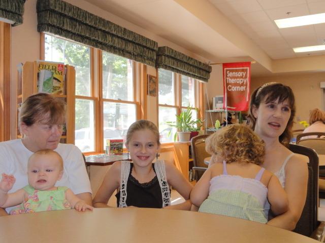 Grandma Pam, Miss Anne-Marie, my sister's Jordan & Meghan, and Me!