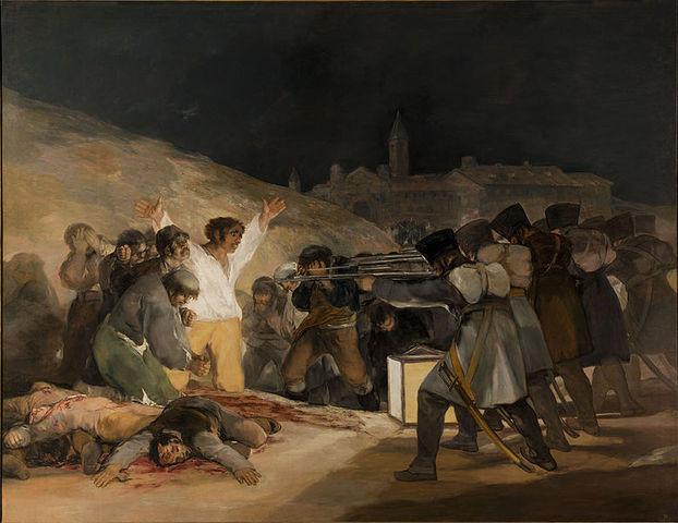 Romantisme, «El Tres de Mayo», Francisco Goya