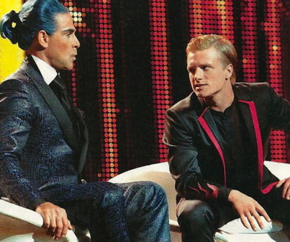 Peeta has his individual interveiw with Caesar Flickerman