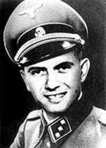 Dr. Josef Mengele arrives