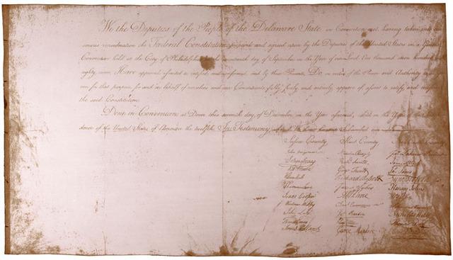 Delaware Ratifies the Constitution