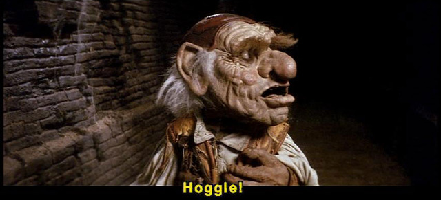 Hoggle is scarred off by strange roars