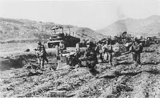 Chinese attack in force near Unsan