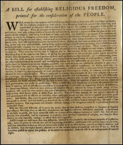 Ordinance of Religous Freedom