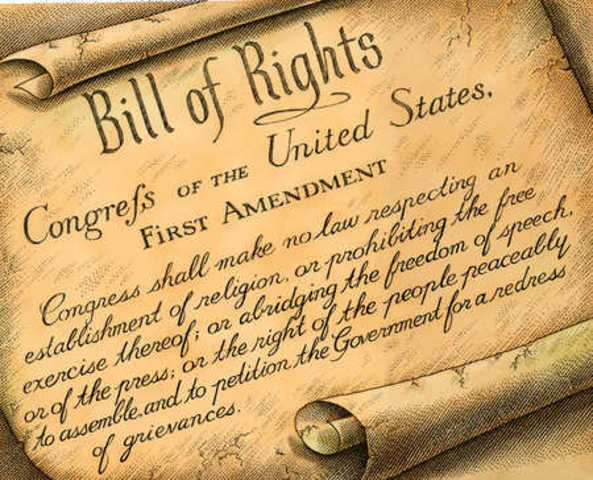 Bill of Rights sent to States for Ratification