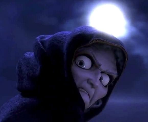 Mother Gothel steals Rapunzel