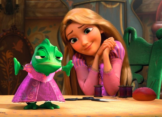 Rapunzel now lives in a tower with Mother Gothel.