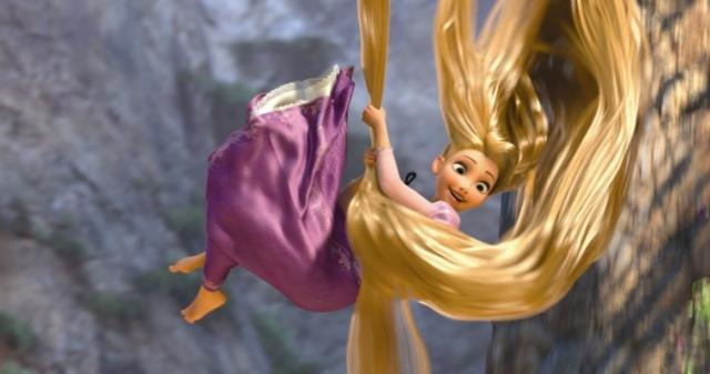 Rapunzel escapes the tower.