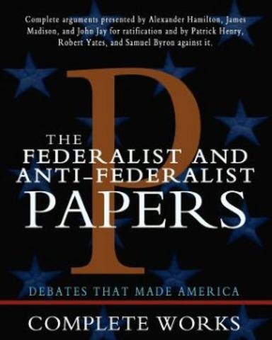 Anti- Federalist articles appear