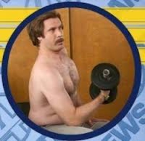Ron works out