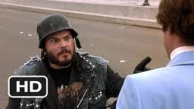 Ron confronts a biker