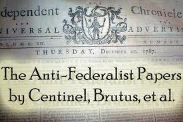 Anti-Federalists Articles Appear