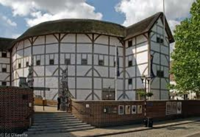 Globe theater is built in london