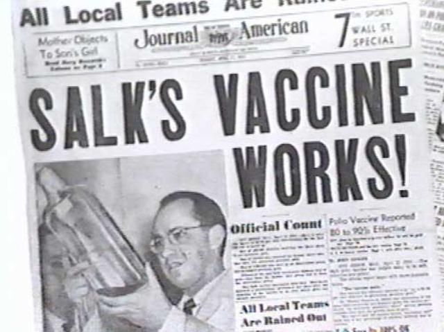 Jonas Salk developed the polio vaccine.