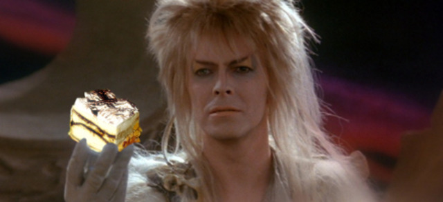 Sarah is innterrupted by the Goblin King, who offers her eternity with him, and eternal rule over the kingdom