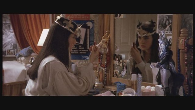 Sarah realizes she can see her friends through her mirror, summons them there, and they are reunited once again, The film ends
