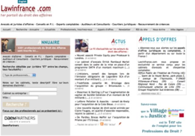 Lancement de Lawinfrance.com
