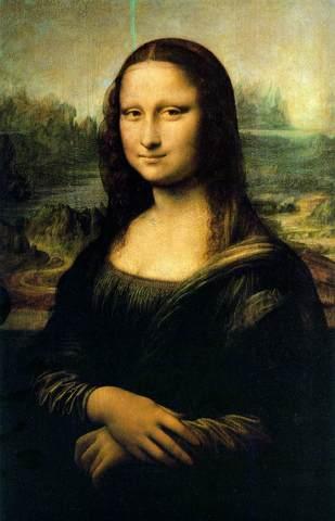leonardo da vinci paints the mona lisa.