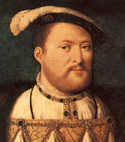 with the supremacy act, henry viii proclaims himself head of church of englend.
