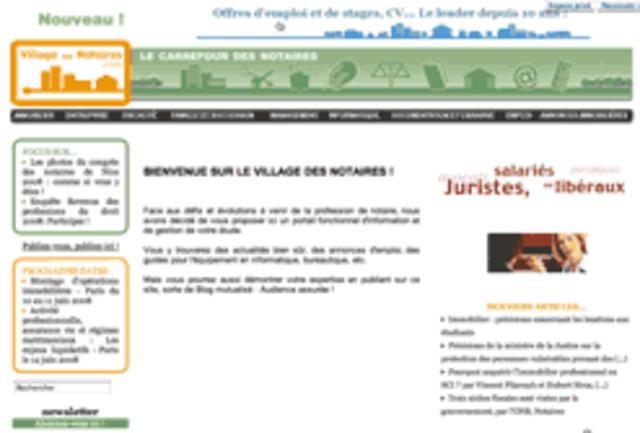 Lancement de village-notaires.com
