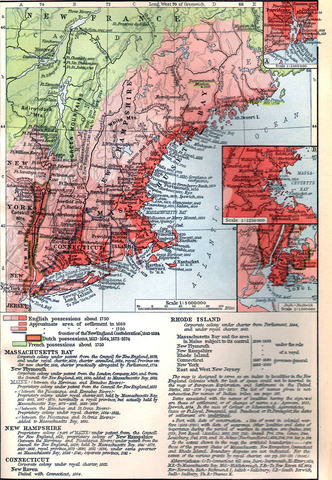 Formation of the New England Confederation.