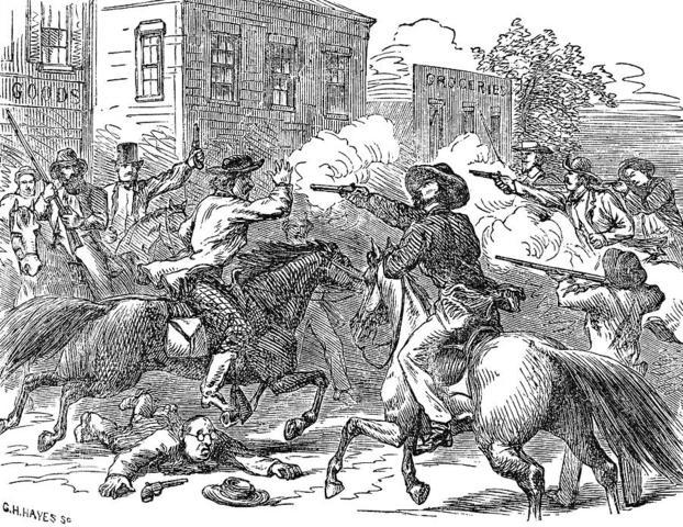 Proslavery Activists Attack Lawrence, Kansas