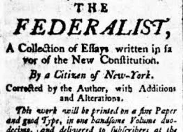 Federalist Papers Appear