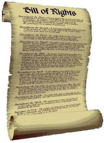Bill of Rights Ratified.