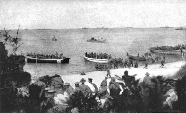 Landing at Anzac Cove