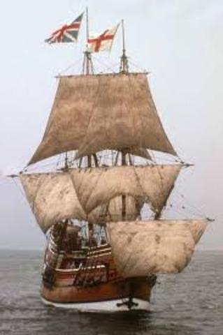 1620 The Mayflower lands at Plymouth Rock, Massachusetts