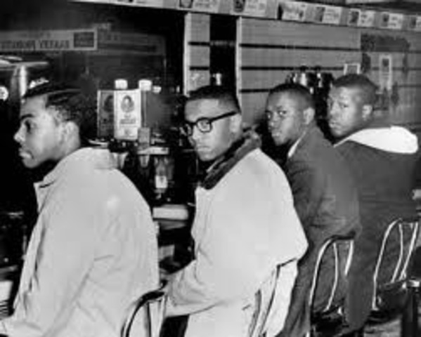 Sit in at Woolworth's lunch counter