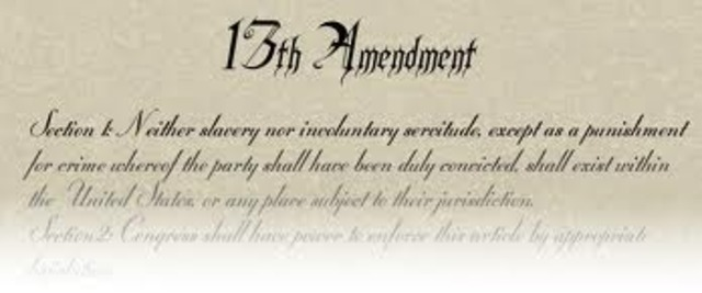 13th Amendment was passed
