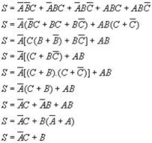 Álgebra de Boole.