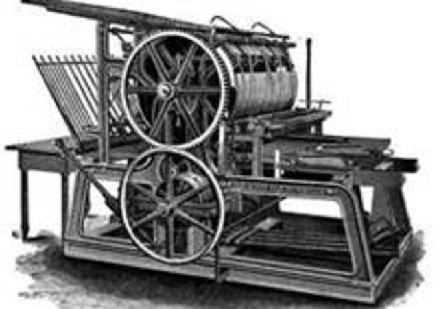 Johannes Gutenberg invents the printing press